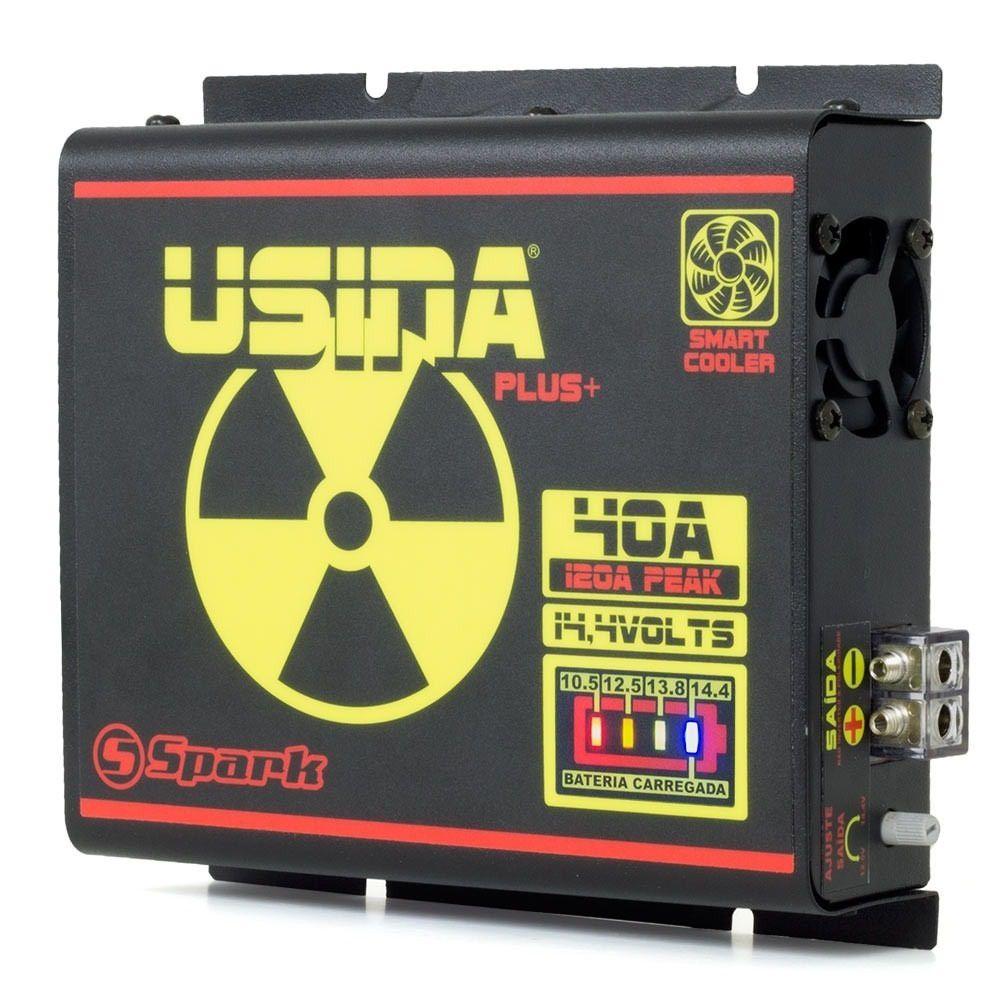 Fonte Carregador Usina 40A Bi-volt 127/220V LED Battery Meter