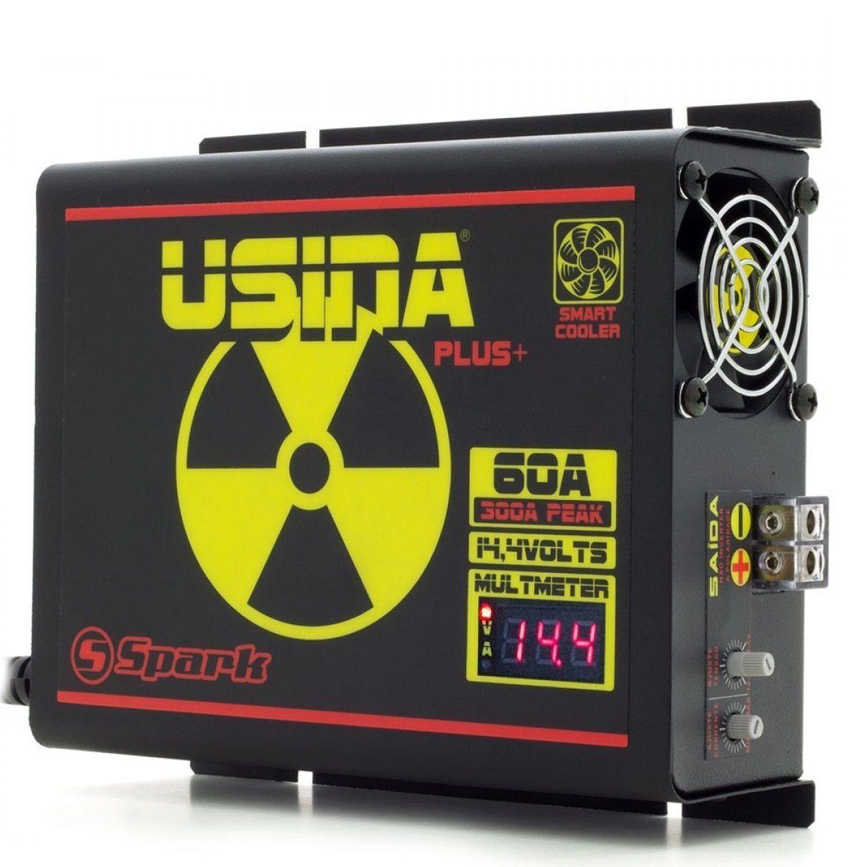 Fonte Carregador Usina 60A Bi-Volt Display VOLT/AMP