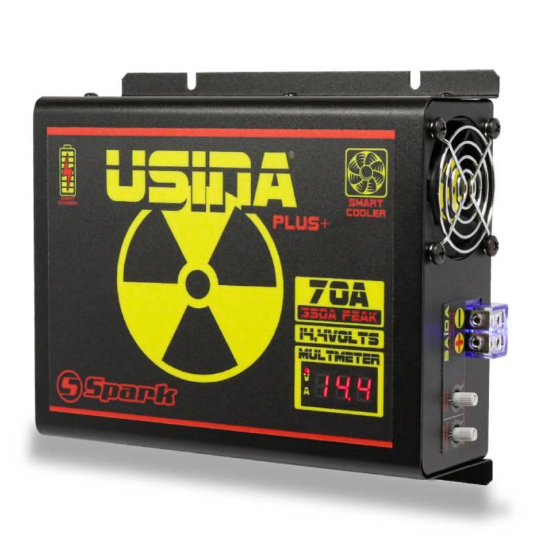 Fonte Carregador Usina 70A Bi-Volt 127/220V Display VOLT/AMP