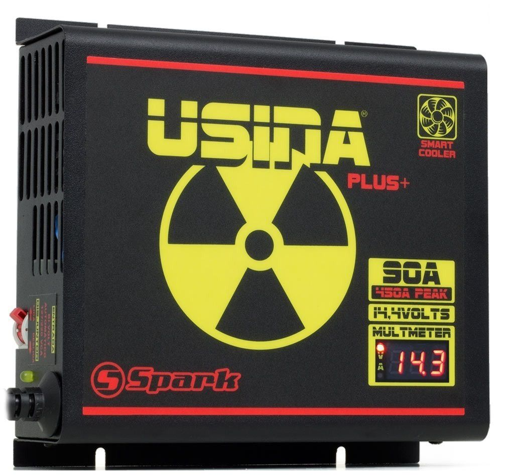 Fonte Carregador Usina 90A Bi-volt Display VOLT/AMP