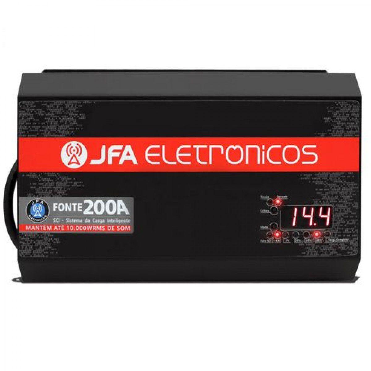 Fonte e Carregador JFA 200A Bi-Volt