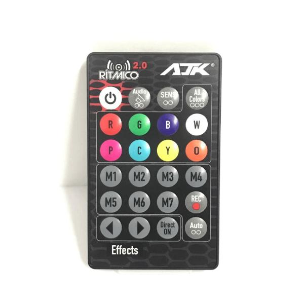 Kit Strobo AJK RGB Rítmico 2.0 8 Cores