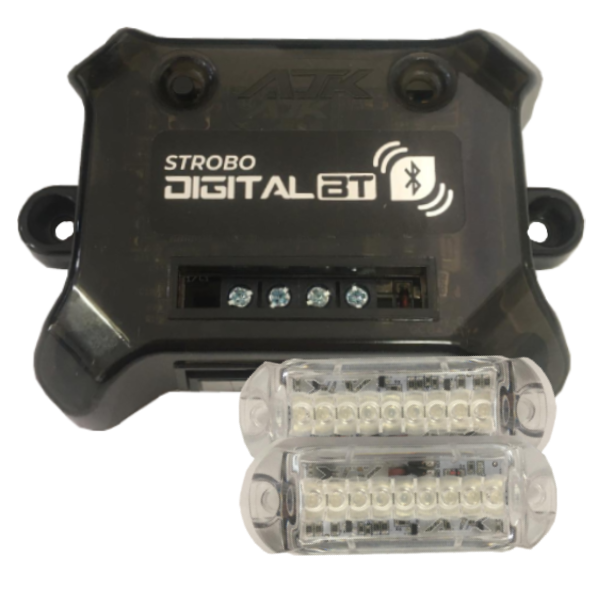 Kit Strobo Digital AJK com Bluetooth + 4 faróis 3W