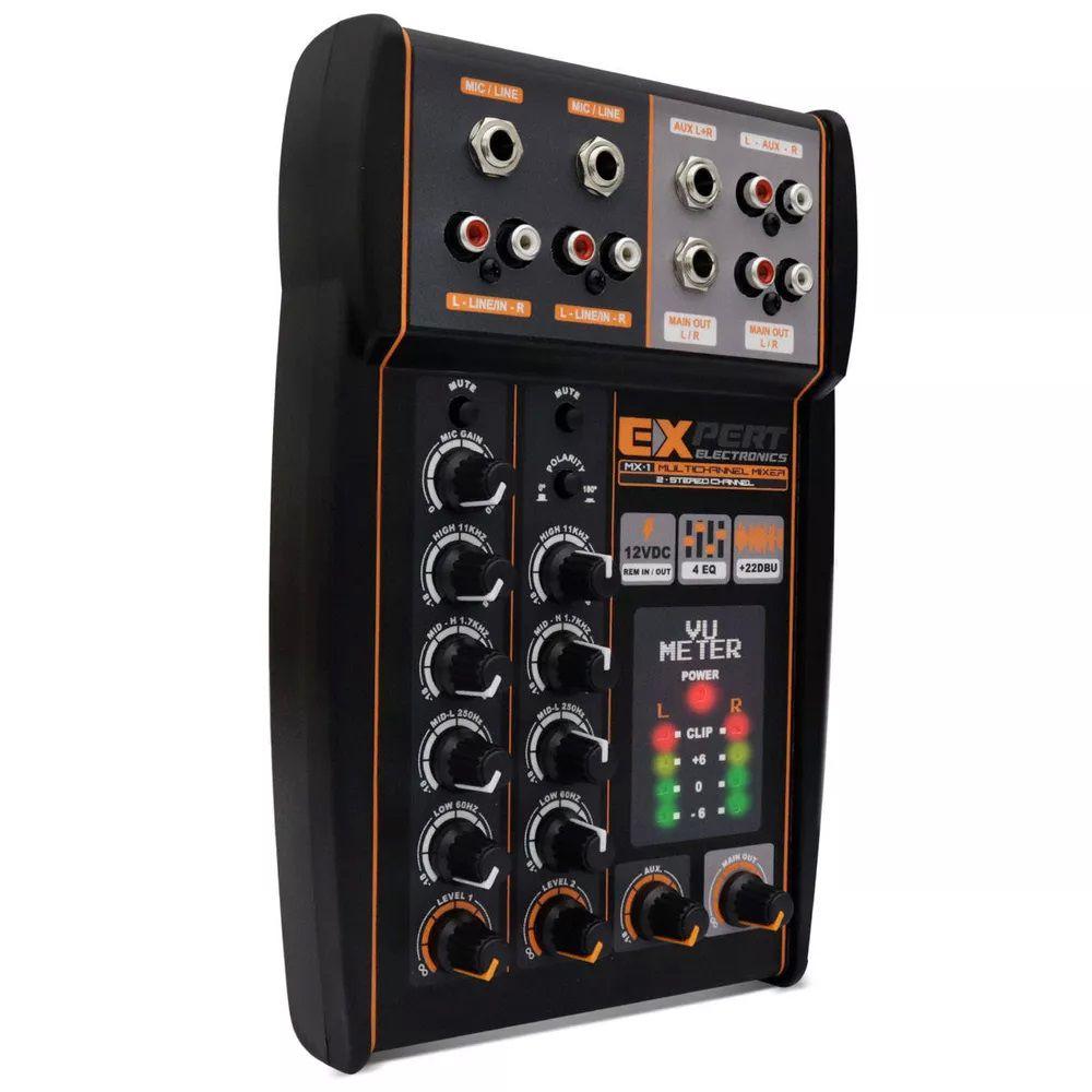 Mesa de Som Expert Electronics MX1 4 Canais - 2 Vias