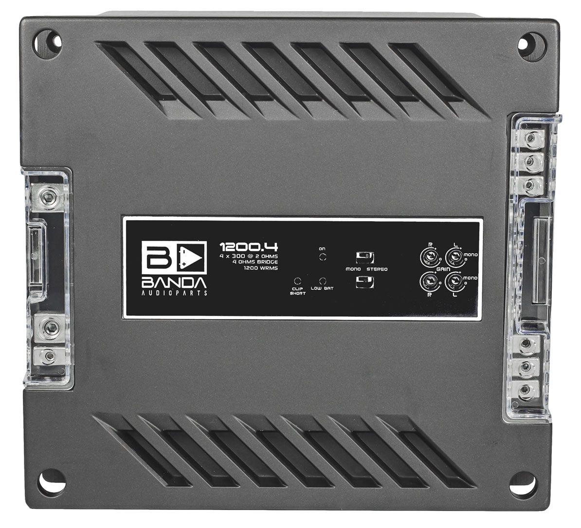 Módulo Amplificador Banda 1200.4 4 Canais 1 Ohm