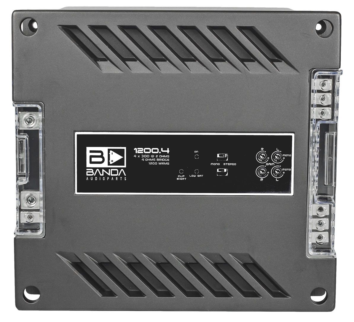 Módulo Amplificador Banda 1200.4 4 Canais 2 Ohms
