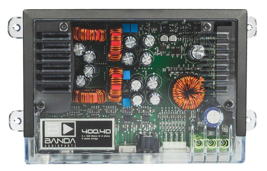 Módulo Amplificador Banda 400.4 4 Canais 2 Ohms - Transparente