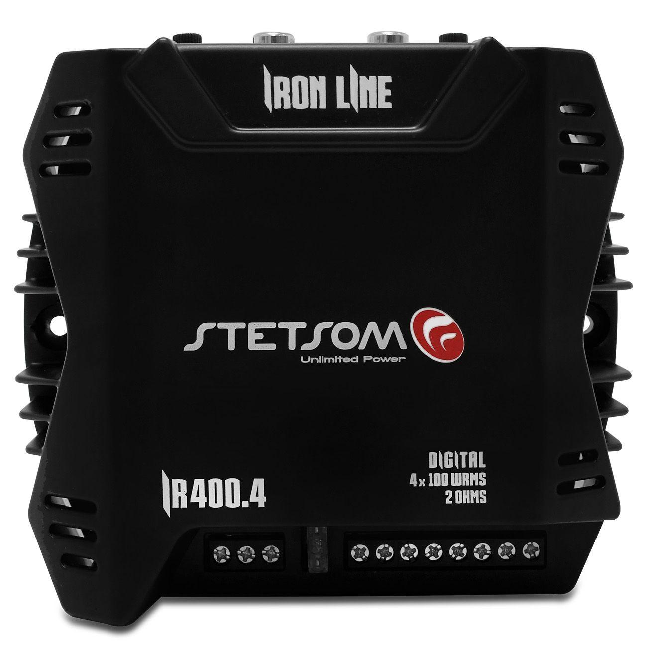 Módulo Amplificador Stetsom Iron Line IR400x4 4 Canais 400W RMS