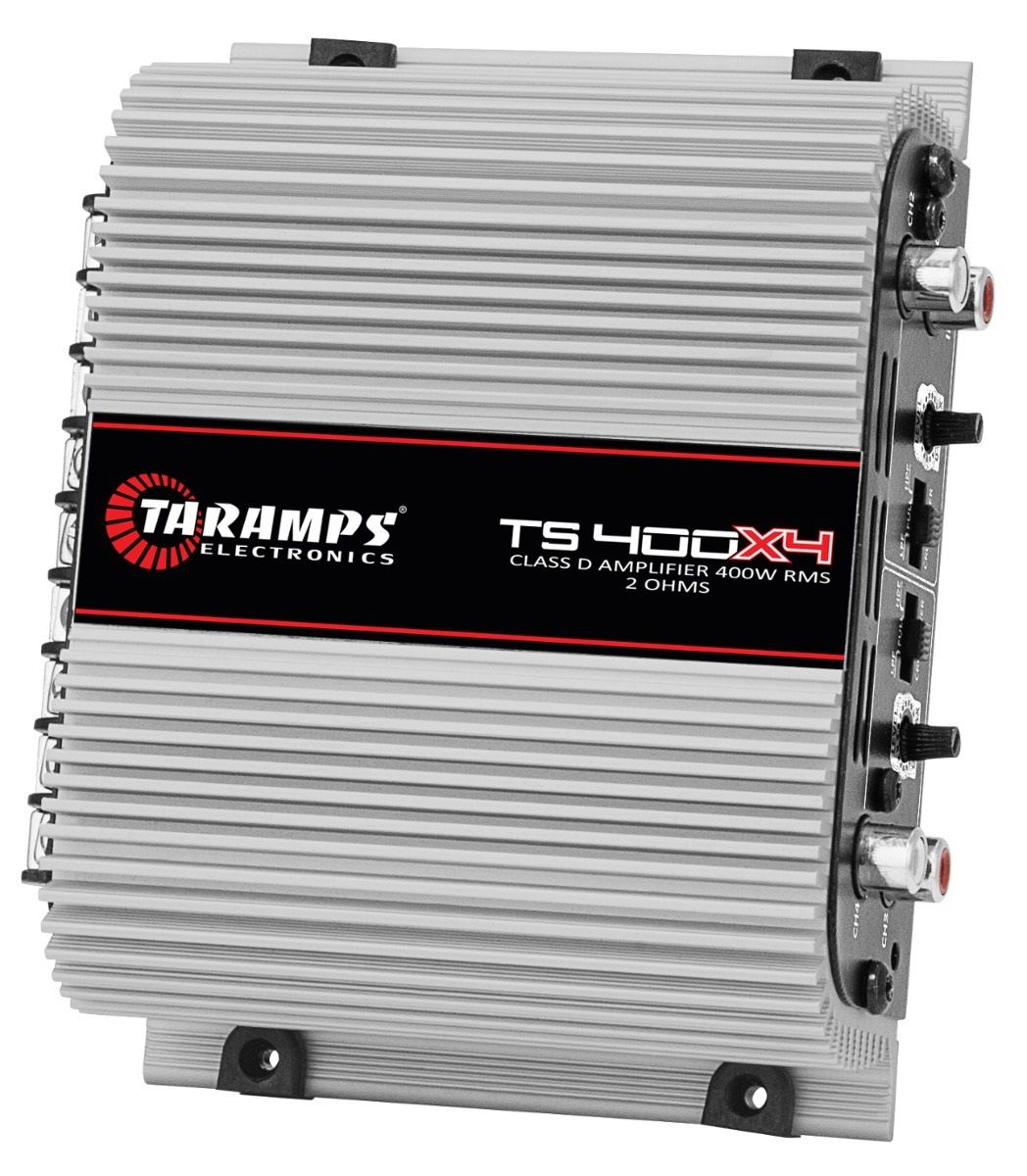 Módulo Amplificador Taramps TS 400x4 400W RMS 4 Canais 2 Ohms