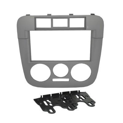 Moldura Fiamon 2 Din VW Gol G4 / Saveiro / Parati Prata 3205