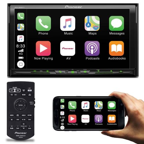 Multimídia receiver Pioneer 2 DIN AVH-Z9280TV com DVD