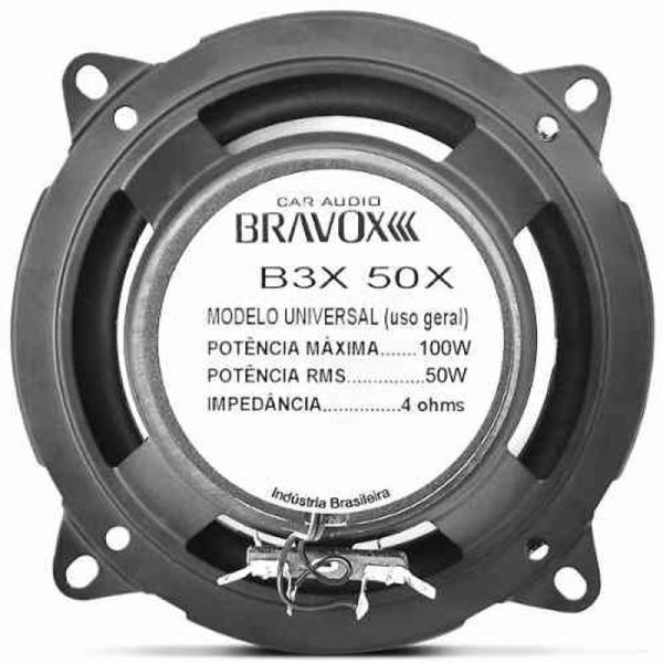 Par de Alto Falante Bravox 5'' B3X50X 100W 4 Ohms