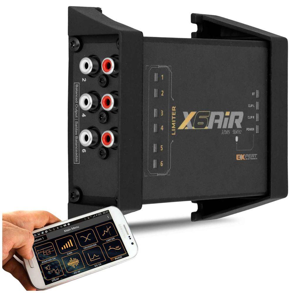 Processador Crossover Expert X6 Air Connect Bluetooth 6 Canais