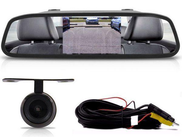 Retrovisor Monitor LCD e Câmera Dlux