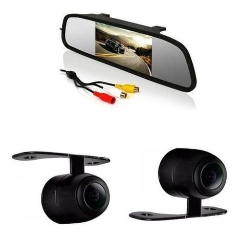 Retrovisor Monitor LCD e Câmera KX3