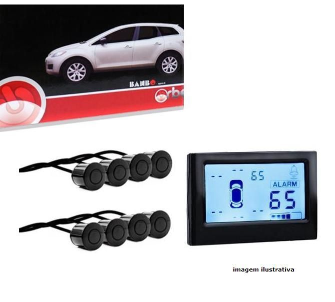 Sensor Estacionamento Display Numérico 8 Pontos Orbe Preto