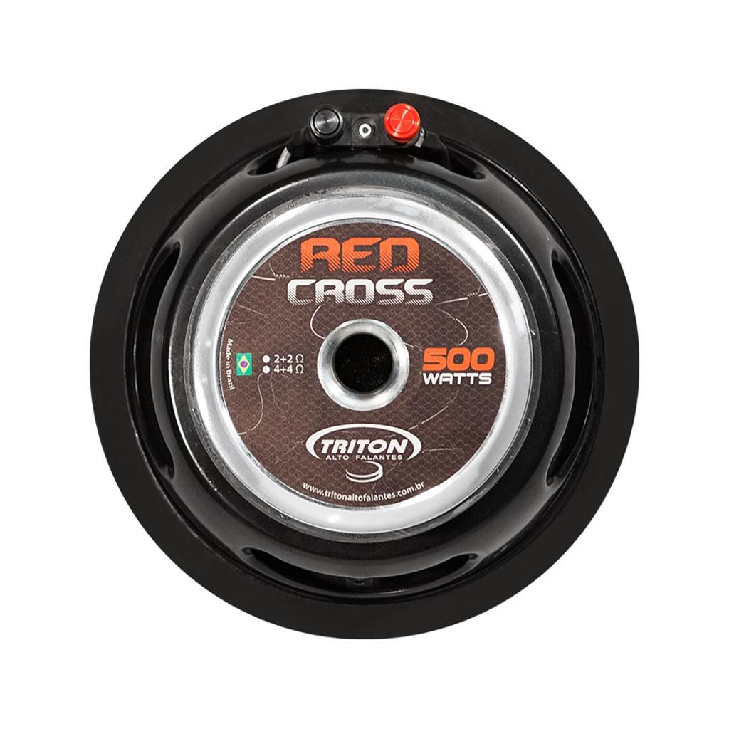 "Subwoofer Triton  10"" Red Cross 1000W 4+4 Ohms"