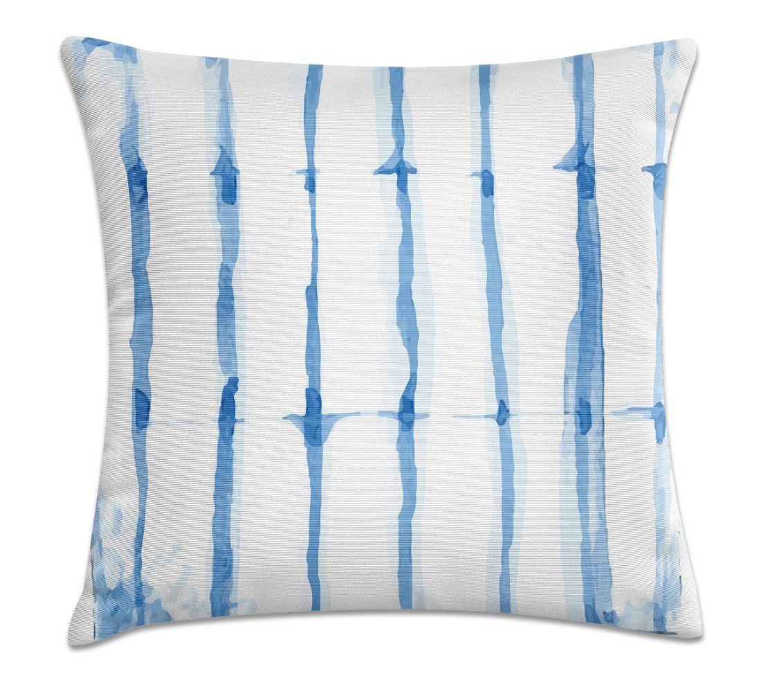 Almofada Decorativa Cheia Aquarela Azul com Zíper 40x40cm