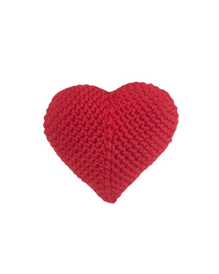 Amigurumi de Coração Vermelho