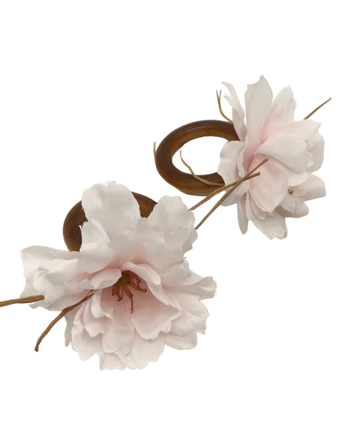 Anel Porta-Guardanapo Flor de Cerejeira 2 Unidades