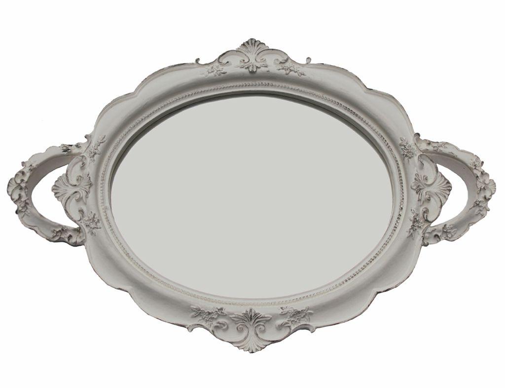 Bandeja Firenze Branca Espelhada