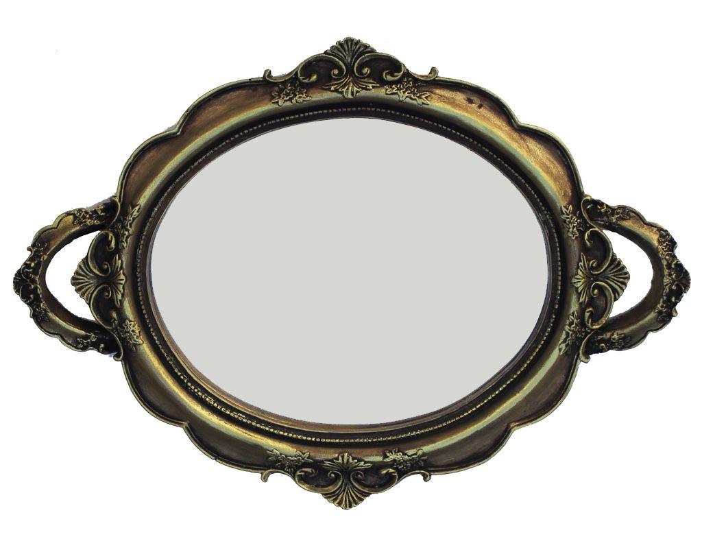 -Bandeja - Firenze dourada espelhada