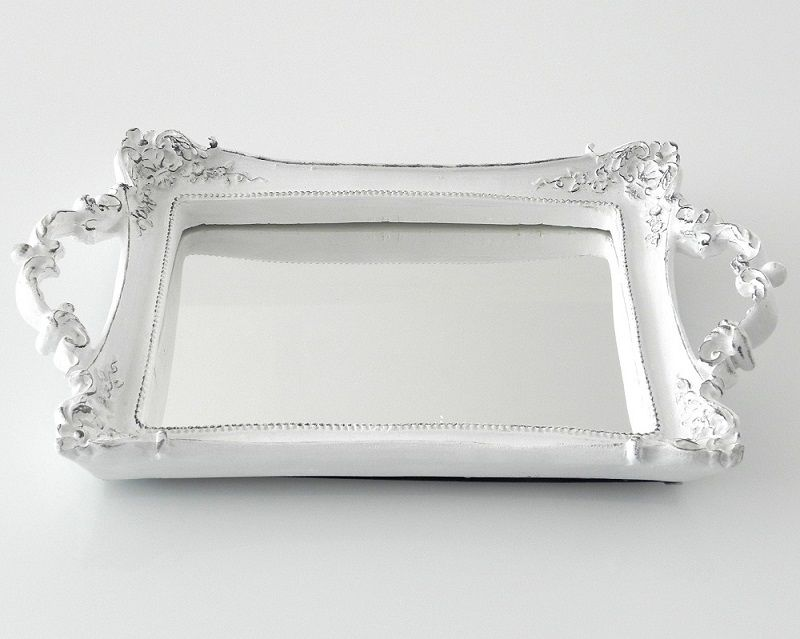 -Bandeja - Roma branca espelhada