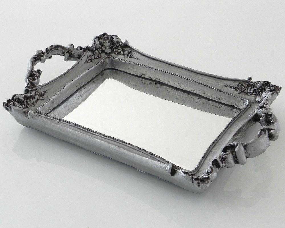 -Bandeja - Roma prata espelhada