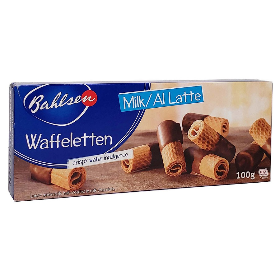 Biscoitos Bahlsen Crispy Wafer ao Leite 100g