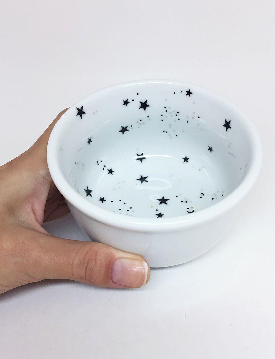 Bowl Coalhadeira de Porcelana Branco Estrela