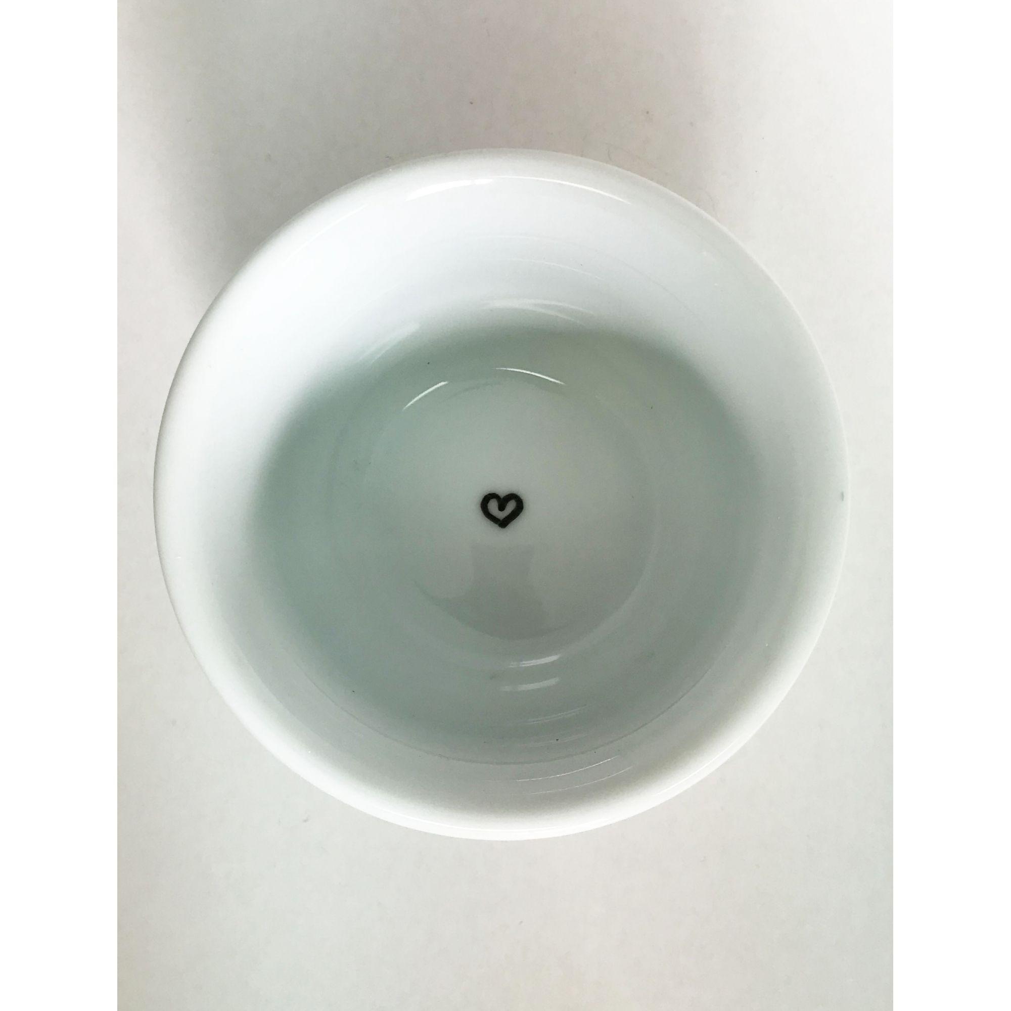 Bowl de Cerâmica Olho Preto e Branco