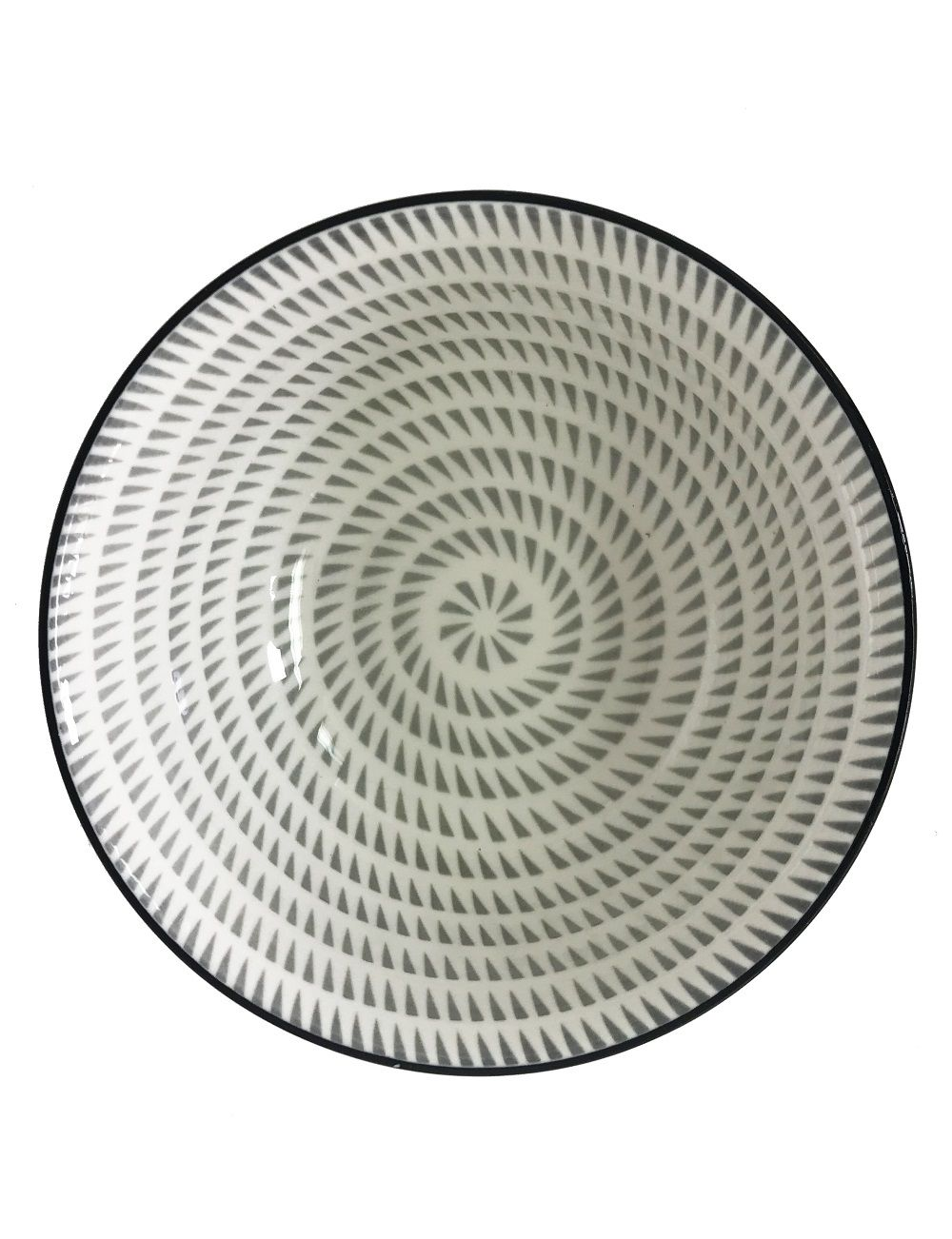 Bowl de Cerâmica Pontilhados Preto e Branco