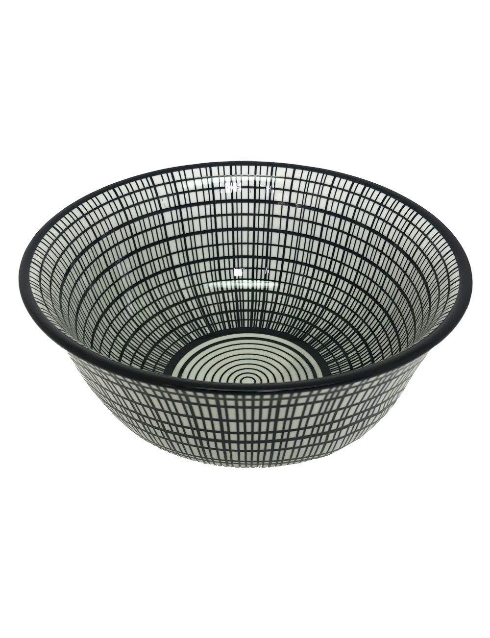 Bowl de Cerâmica Xadrez Preto e Branco