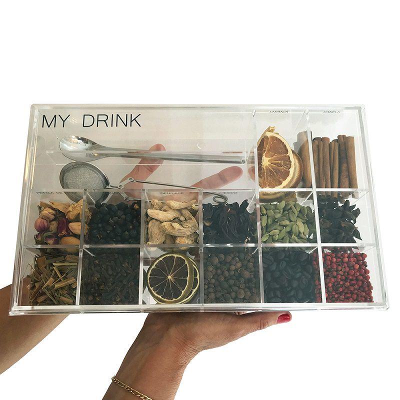 Caixa de Especiarias para Bebidas My Drinks em Acrílico Grande