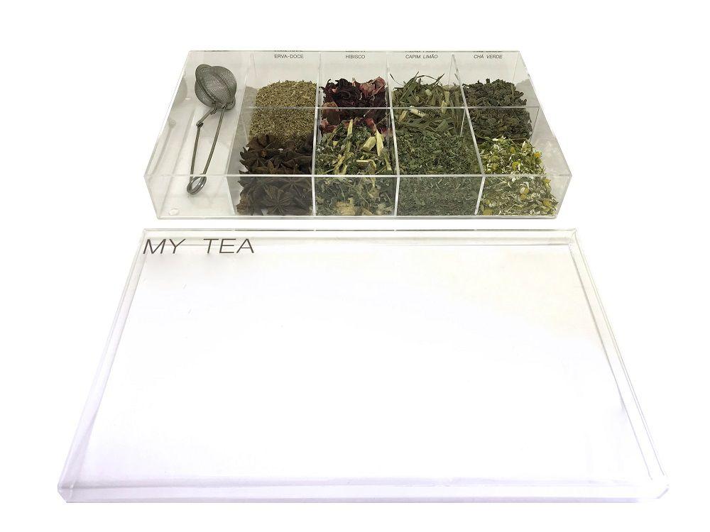 Caixa de Especiarias para Chá My Tea em Acrílico Grande
