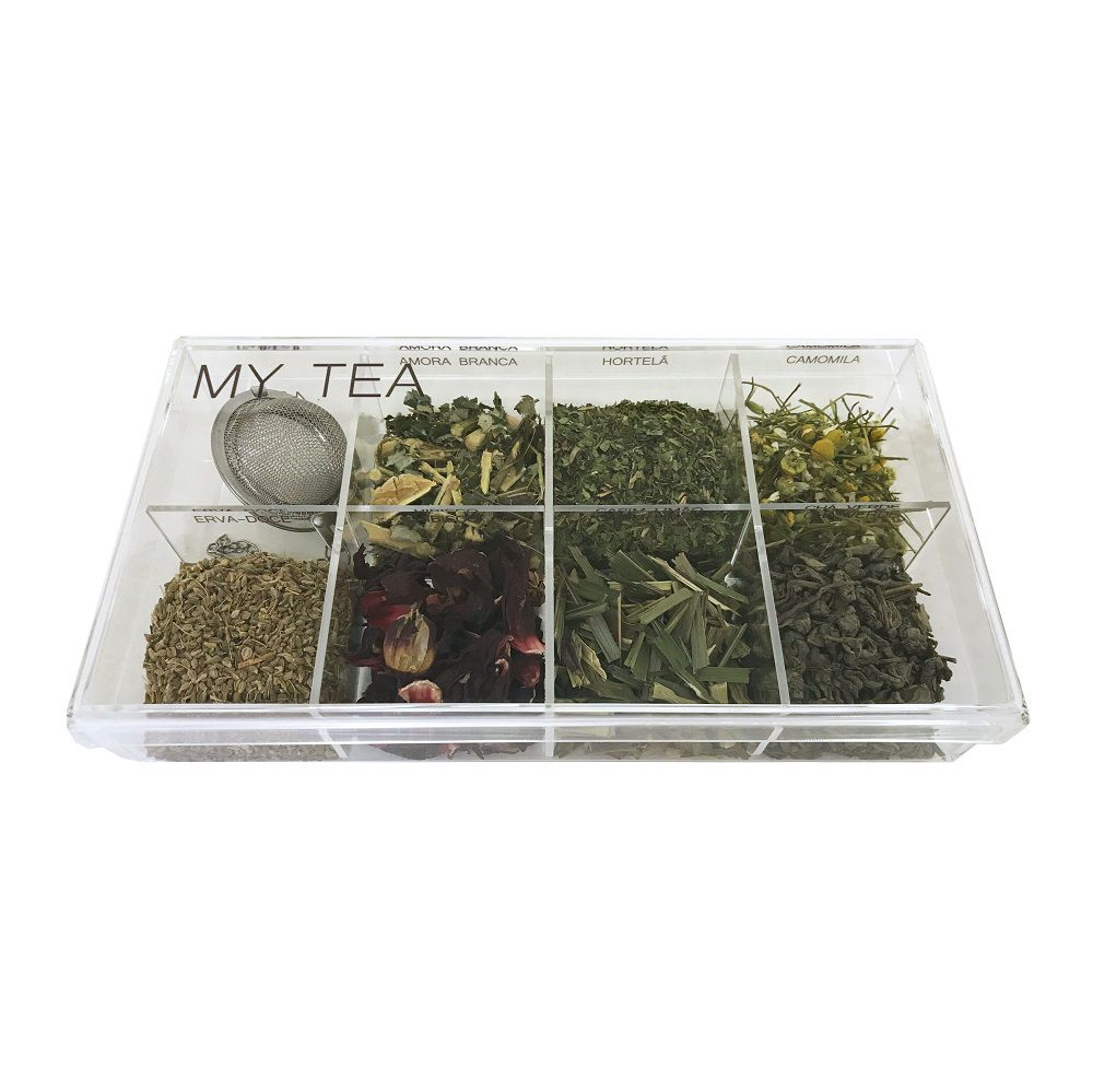 -Caixa de Especiarias para Chá My Tea em Acrílico Média