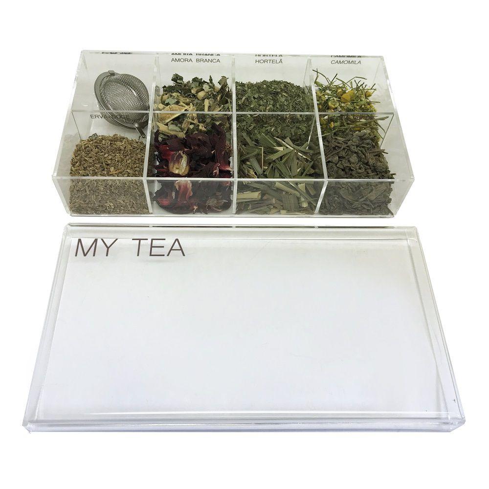 - INATIVO Caixa de Especiarias para Chá My Tea em Acrílico Média