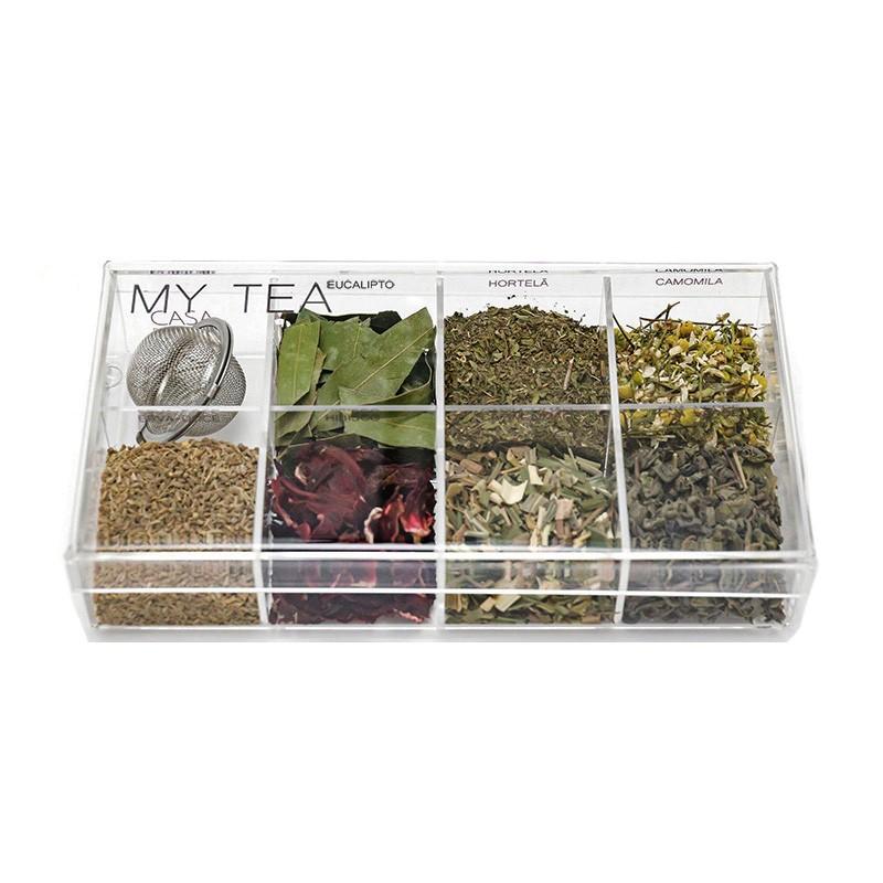 Caixa de Especiarias para Chá My Tea em Acrílico Média