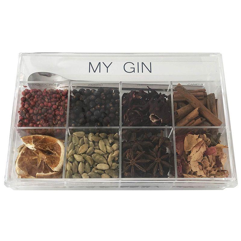 Caixa de Especiarias para Drinks My Gin em Acrílico Média