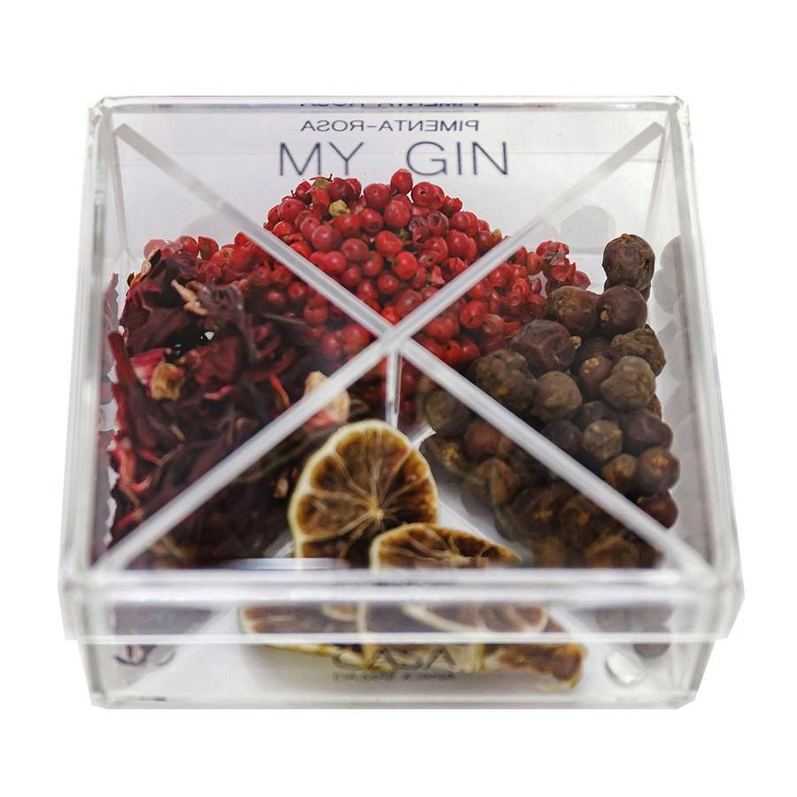 Caixa de Especiarias para Drinks My Gin em Acrílico Pequena