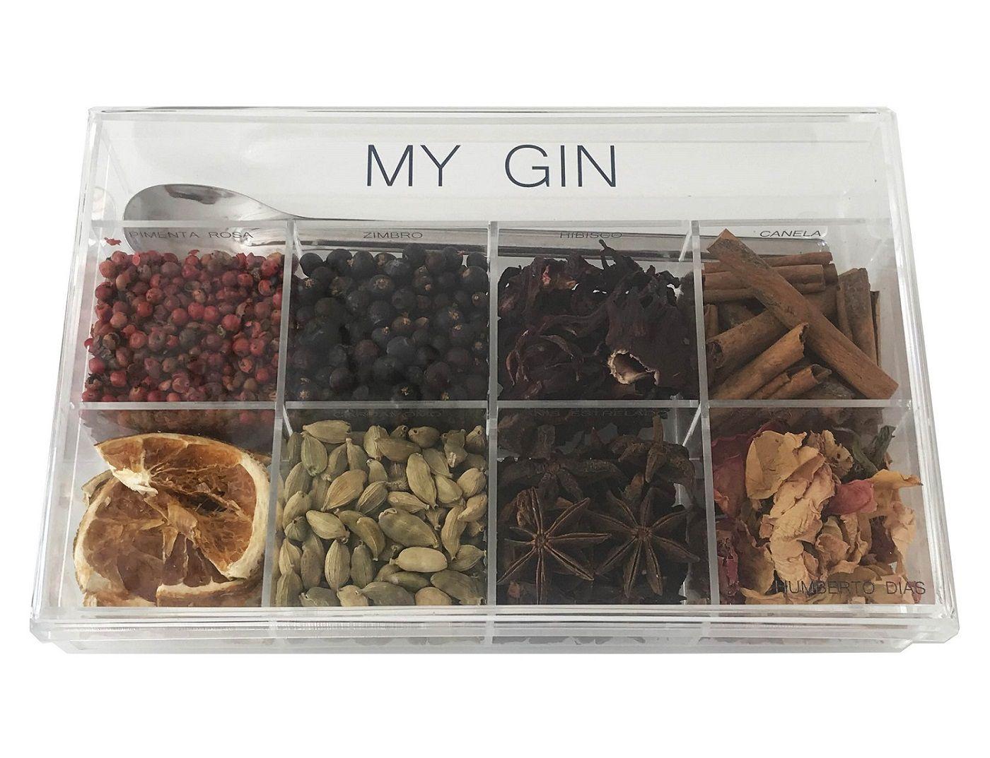 - INATIVO Caixa de Especiarias para Drinks My Gin Personalizada em Acrílico Média