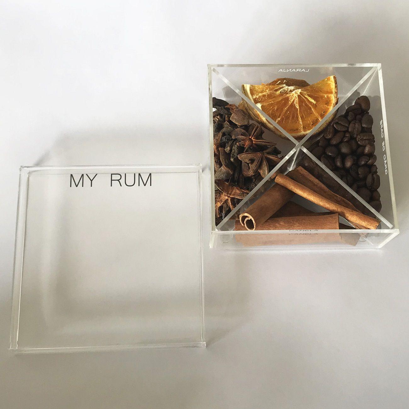 Caixa de Especiarias para Drinks My Rum em Acrílico Pequena