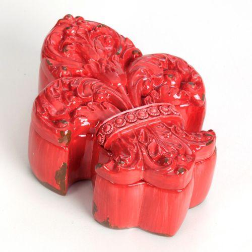 -Caixa - Flor de lis vermelha provençal