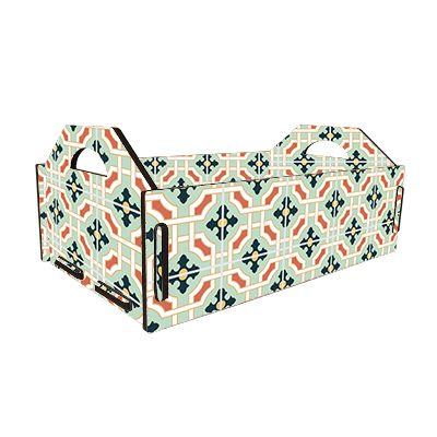 -Caixa - Fruteira azulejo hidráulico verde
