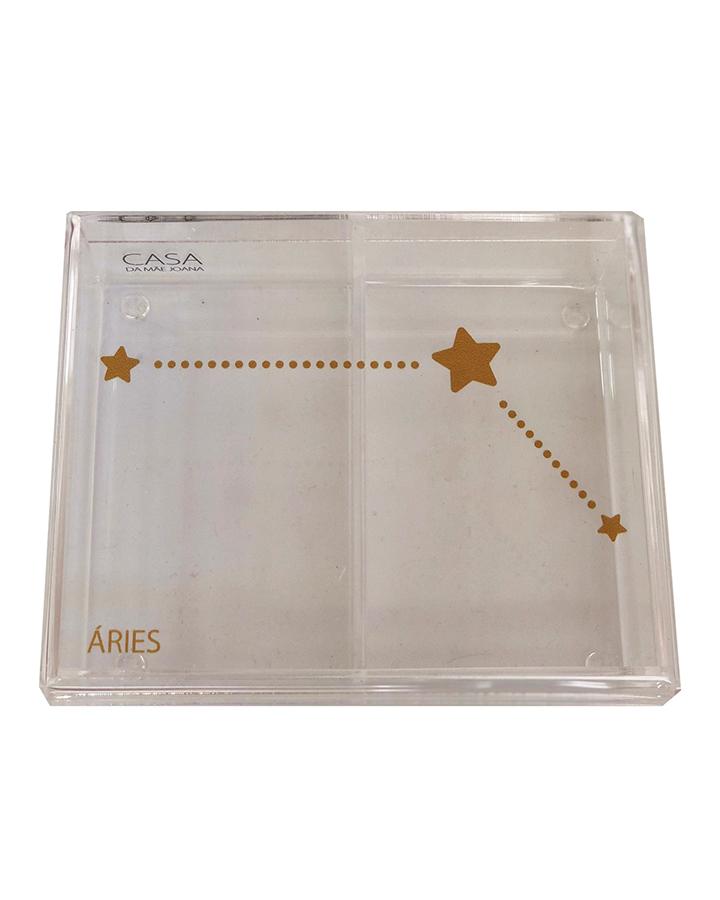 Caixa Organizadora Acrílico Constelação Signos Áries