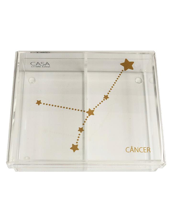 Caixa Organizadora Acrílico Constelação Signos Câncer