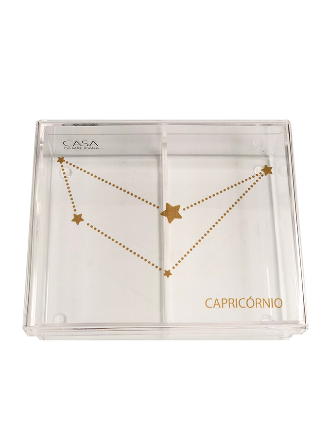 Caixa Organizadora Acrílico Constelação Signos Capricórnio