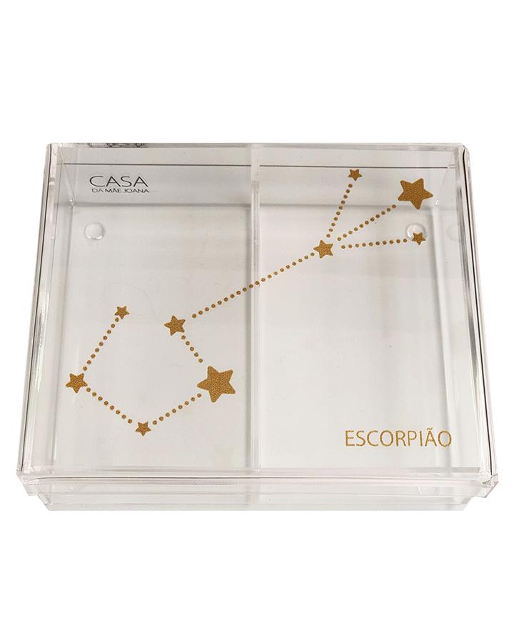Caixa Organizadora Acrílico Constelação Signos Escorpião