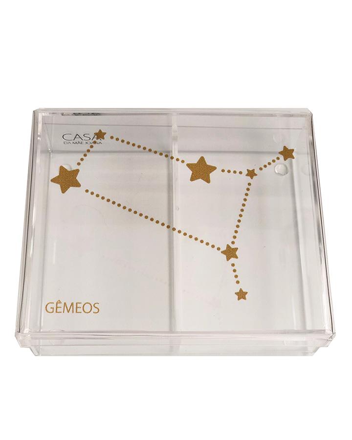 Caixa Organizadora Acrílico Constelação Signos Gêmeos