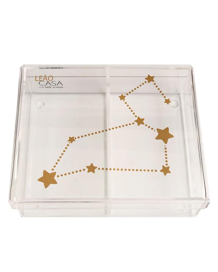 Caixa Organizadora Acrílico Constelação Signos Leão